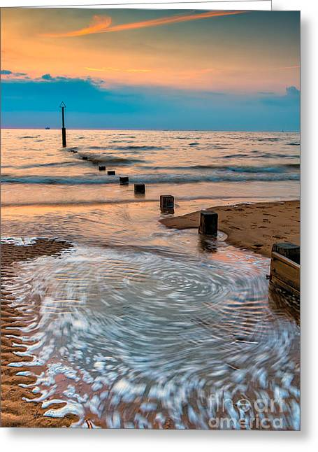 Sand Pattern Greeting Cards - Patterns on the Beach  Greeting Card by Adrian Evans
