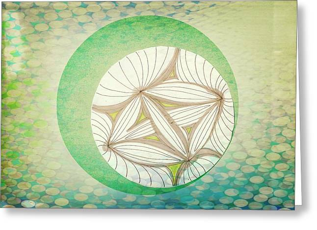 Blur Drawings Greeting Cards - Patterns Greeting Card by Victoria Fischer