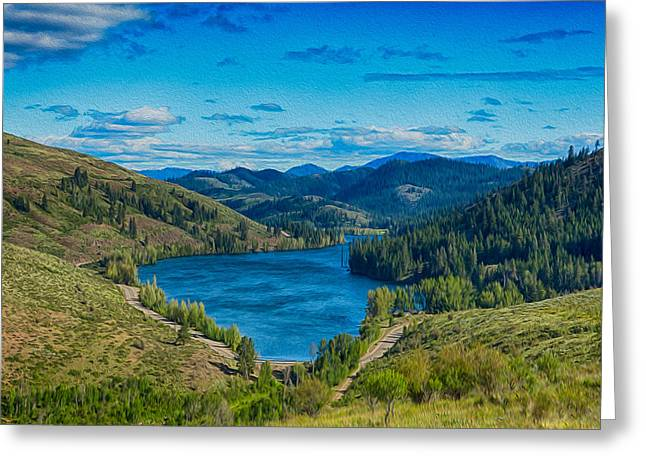Omaste Witkowski Greeting Cards - Patterson Lake in the Summer Greeting Card by Omaste Witkowski