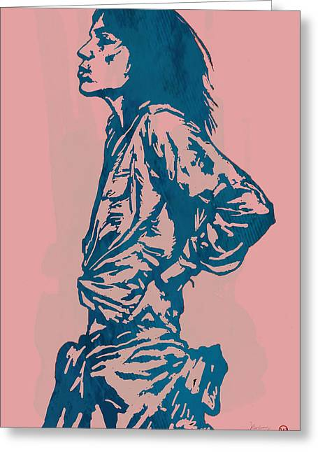 Patti Smith Amsterdam 1976 Pop Art Poster Greeting Card by Kim Wang