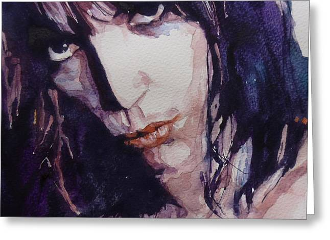 Rock Portraits Greeting Cards - Patti Smith Greeting Card by Paul Lovering