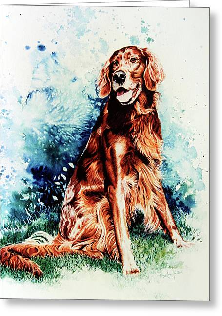 Old Dogs Greeting Cards - Patton Greeting Card by Hanne Lore Koehler