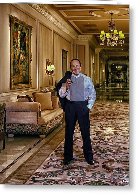 Song Writer Greeting Cards - Paul Anka in Vegas Greeting Card by Mountain Dreams