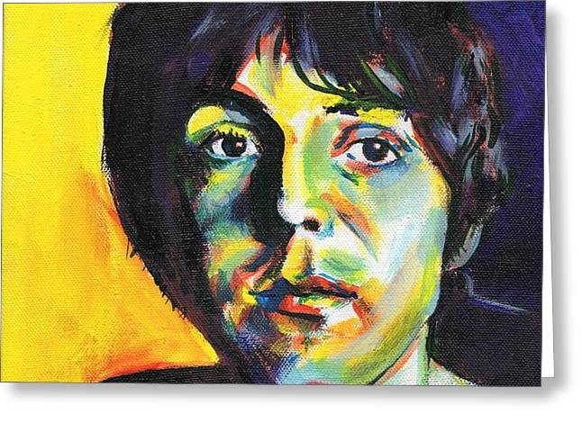 Fab 4 Greeting Cards - Paul Greeting Card by Charles  Bickel