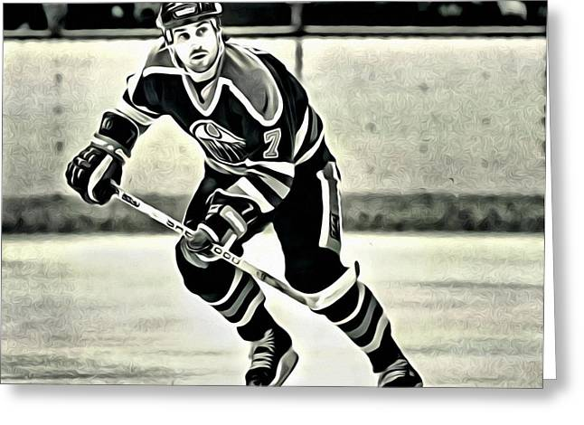 Detroit Legends Greeting Cards - Paul Coffey Greeting Card by Florian Rodarte