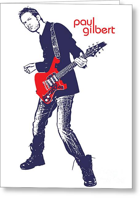 Photomonatage Digital Greeting Cards - Paul Gilbert No.01 Greeting Card by Caio Caldas