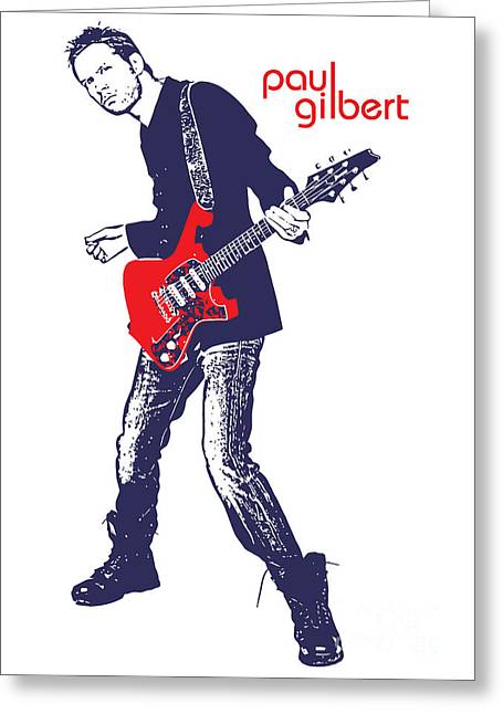 Player Digital Greeting Cards - Paul Gilbert No.01 Greeting Card by Caio Caldas