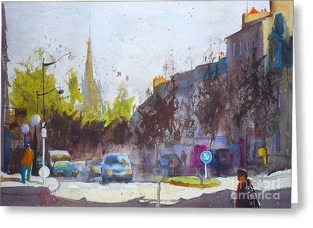 Lorient Greeting Cards - Paul Guieysse Street Greeting Card by Andre MEHU