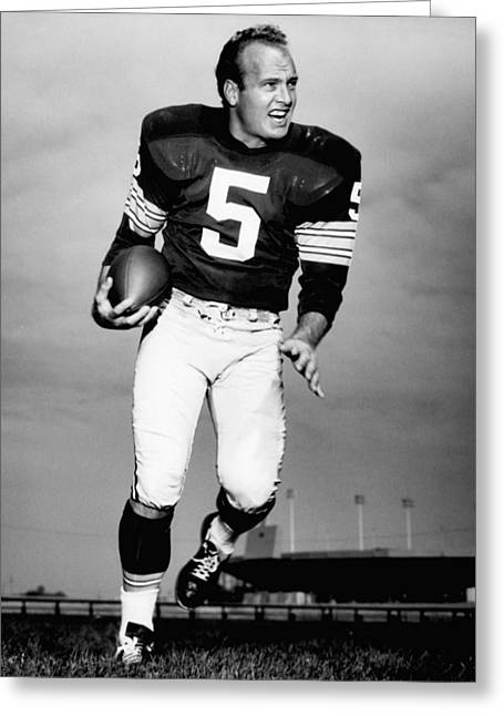Sports Fields Greeting Cards - Paul Hornung Poster Greeting Card by Gianfranco Weiss