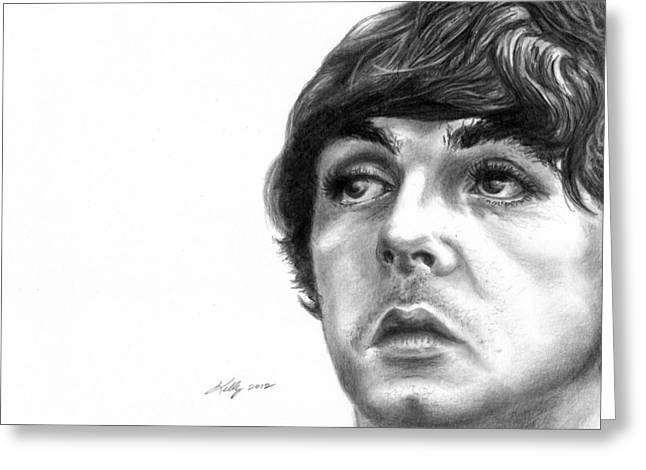 Paul Mccartney Drawings Greeting Cards - Paul Greeting Card by Kathleen Kelly Thompson