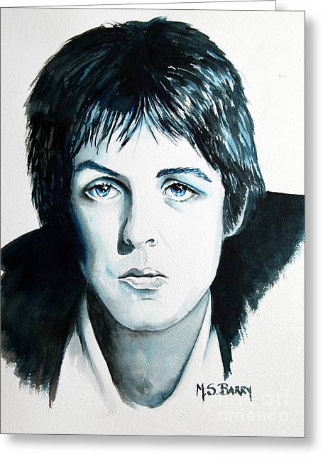 Paul Mc Cartney Greeting Cards - Paul Mc Cartney Greeting Card by Maria Barry