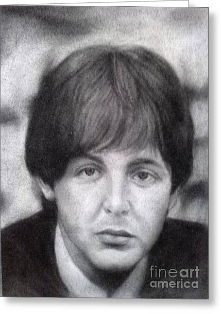 Cavern Club . Greeting Cards - Paul McCartney - BEATLES Greeting Card by Richard John Holden