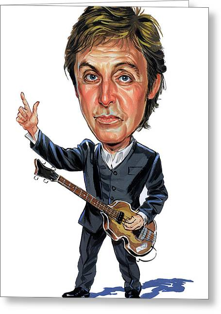 Singer Paintings Greeting Cards - Paul McCartney Greeting Card by Art