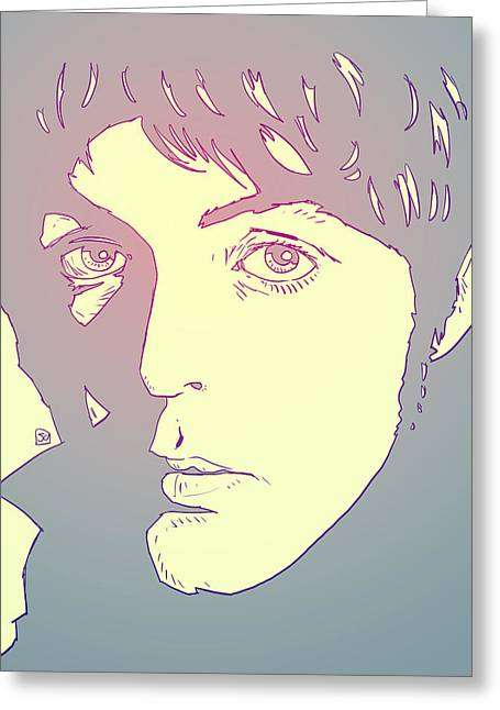 Yesterday Greeting Cards - Paul McCartney Greeting Card by Giuseppe Cristiano