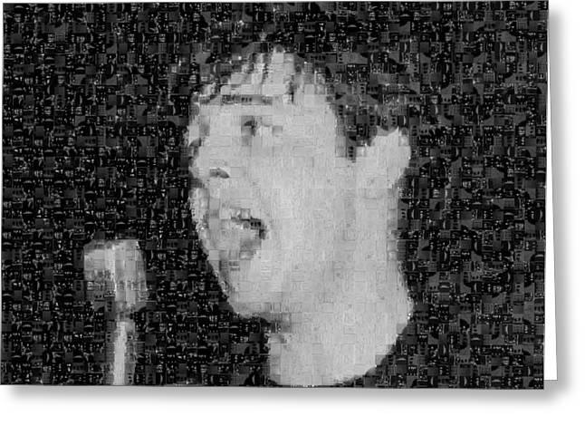Sgt Pepper Photographs Greeting Cards - Paul McCartney Mosaic Image 3  Greeting Card by Steve Kearns