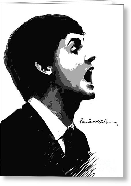 Player Greeting Cards - Paul McCartney No.01 Greeting Card by Caio Caldas