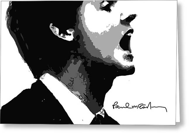Paul McCartney No.01 Greeting Card by Caio Caldas