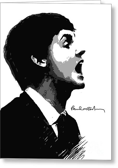 Face Greeting Cards - Paul McCartney No.01 Greeting Card by Caio Caldas
