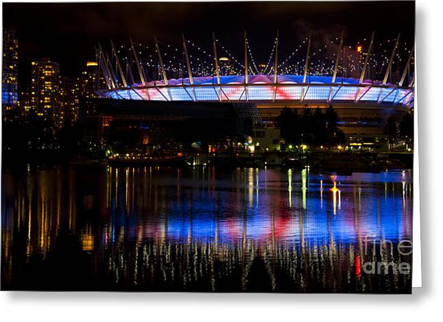 Paul Mccartney Greeting Cards - Paul McCartney plays BC Place Greeting Card by Chris Dutton