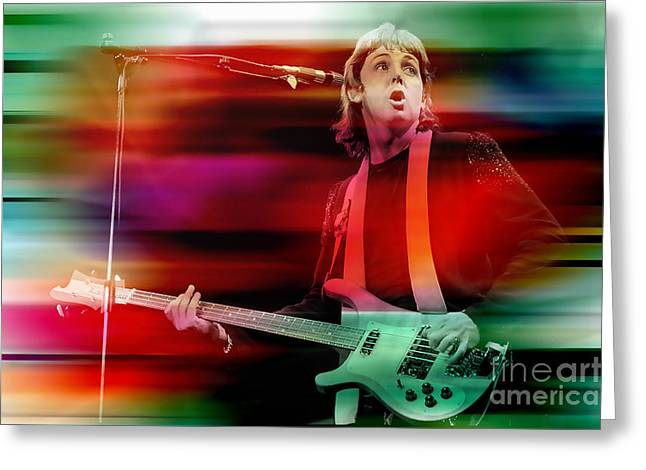 Paul Greeting Cards - Paul McCartney Then and Now Greeting Card by Marvin Blaine