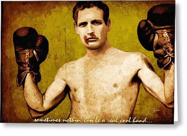 Hollywood Legend Greeting Cards - Paul Newman Cool Hand Luke  Greeting Card by Dancin Artworks