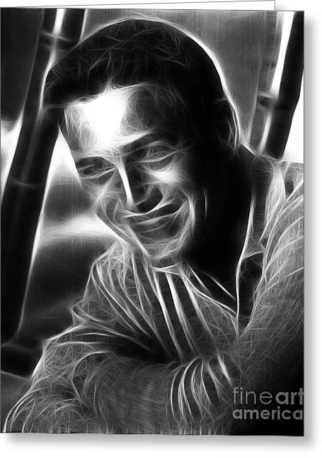 Owner Digital Greeting Cards - Paul Newman Greeting Card by Michael Braham