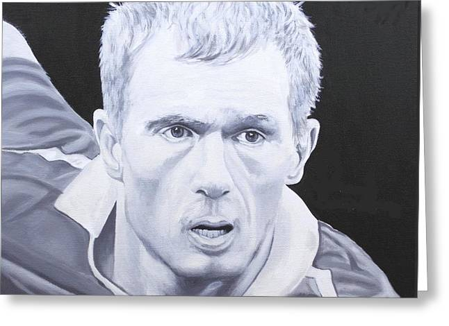 Soccer Framed Prints Greeting Cards - Paul Scholes Greeting Card by Stephen Rea