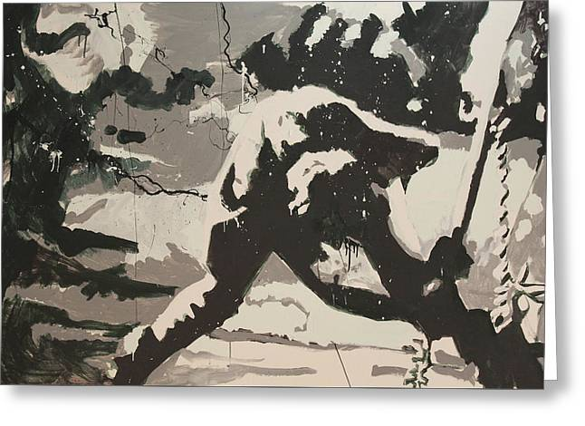 Visual Art Greeting Cards - Paul Simonon Of The Clash Greeting Card by Dustin Spagnola