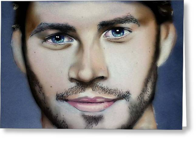 Celebrity Pastels Greeting Cards - Paul Walker Greeting Card by Bobby Boyer