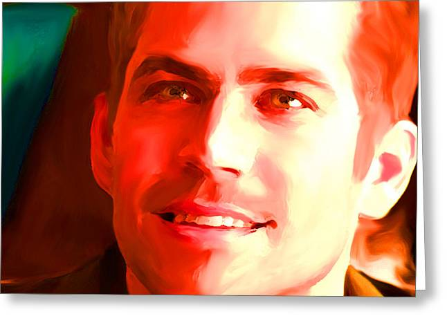 D.w. Paintings Greeting Cards - Paul Walker Greeting Card by Parvez Sayed