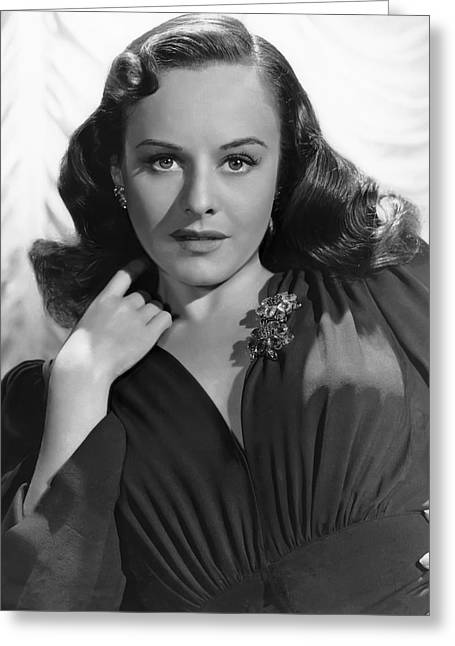 Academy Awards Oscars Greeting Cards - Paulette Goddard Greeting Card by Daniel Hagerman