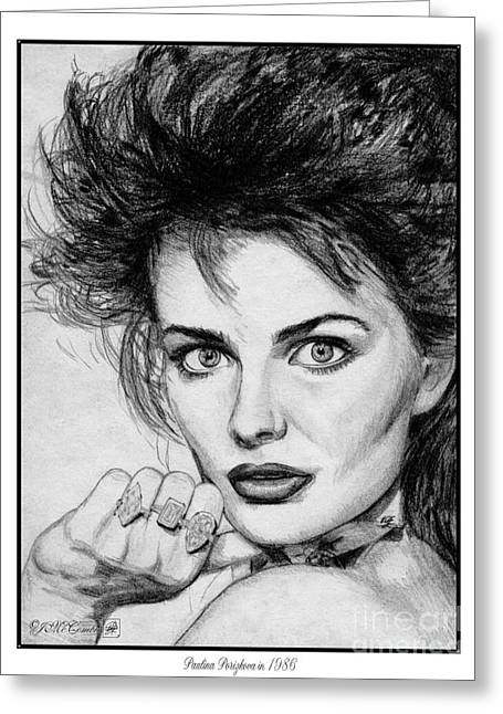 Sports Illustrated Greeting Cards - Paulina Porizkova in 1986 Greeting Card by J McCombie