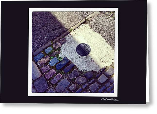 Xoanxo Cespon Photographs Greeting Cards - Pavement Art 3 Greeting Card by Xoanxo Cespon