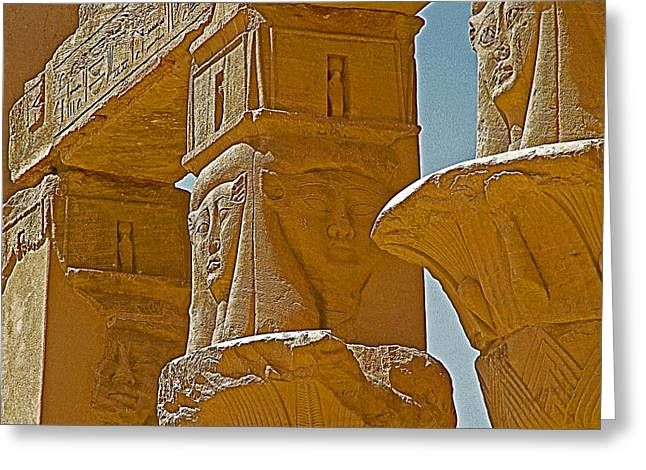 Hathor Greeting Cards - Pavilion of Nectanebo I Dedicated to Hathor on Philae Island near Aswan-Egypt  Greeting Card by Ruth Hager