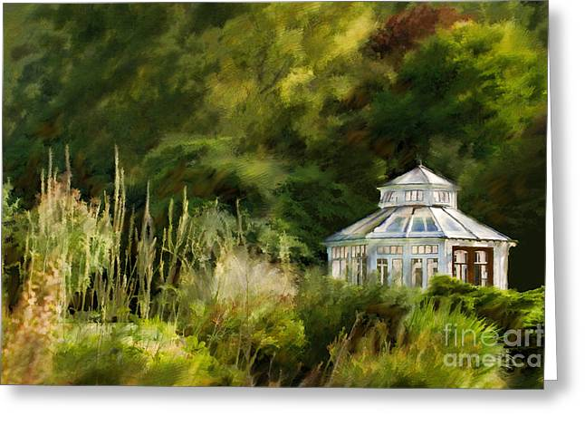 Garden Images Greeting Cards - Pavillon Greeting Card by Lutz Baar