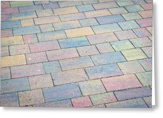 Paste Greeting Cards - Paving Greeting Card by Tom Gowanlock