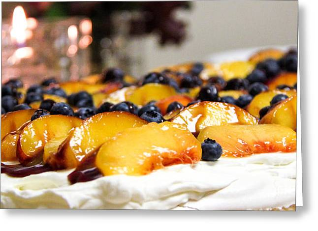 Pavlova And Candle Greeting Card by Nancy Harrison