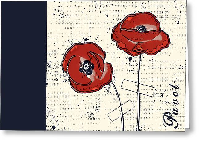 Square Format Greeting Cards - Pavot - s05-01a Greeting Card by Variance Collections