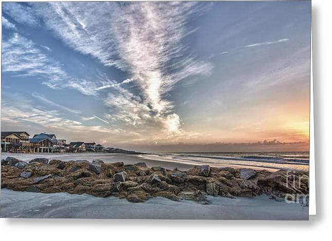 Mike Covington Greeting Cards - Pawleys Island Beach Sunrise Greeting Card by Mike Covington