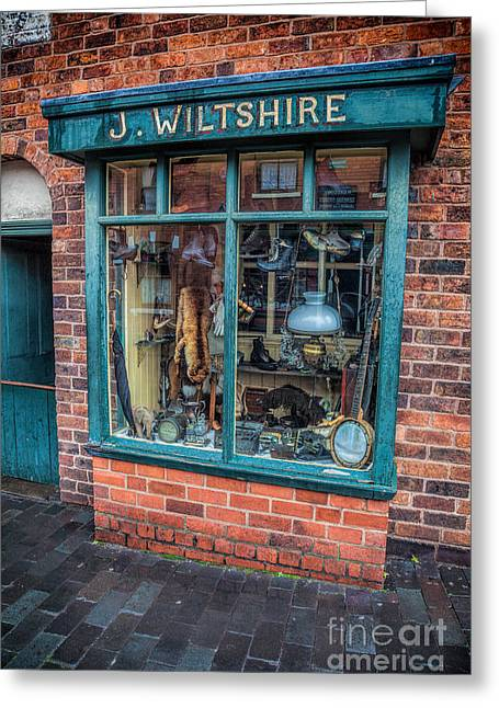 Umbrellas Greeting Cards - Pawnbrokers Shop Greeting Card by Adrian Evans