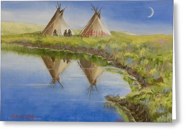 Missouri River Greeting Cards - Pawnee Camp Greeting Card by Jerry McElroy