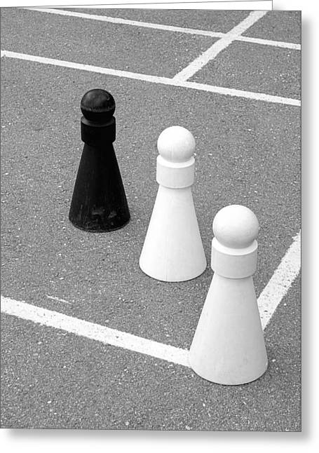 Chess Piece Greeting Cards - Pawns Greeting Card by Valentino Visentini