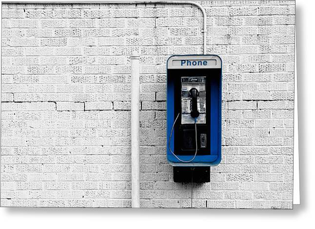 Replace Greeting Cards - Pay Phone Greeting Card by Mountain Dreams