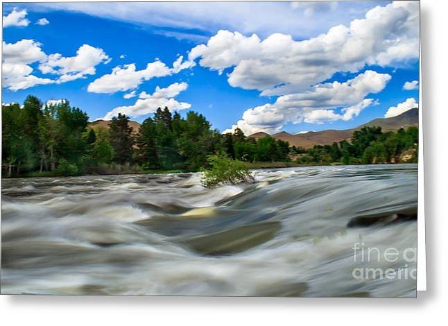 Payette River Greeting Card by Robert Bales