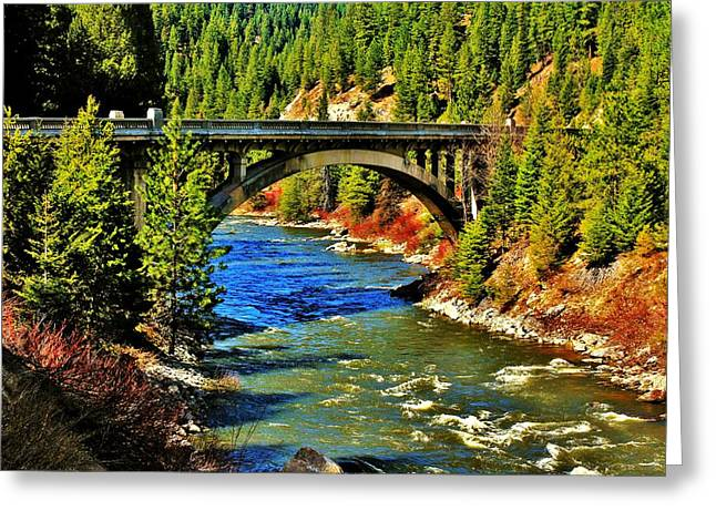 Payette River Scenic Byway Greeting Card by Benjamin Yeager