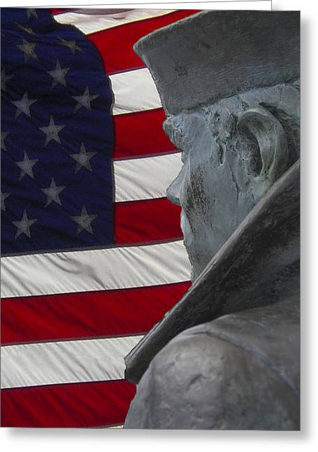 Award Winning Art Greeting Cards - Paying His Respects Greeting Card by David Kehrli