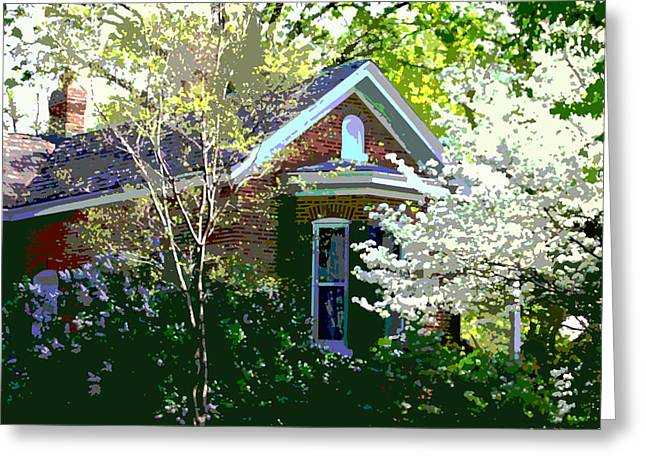 Payne Greeting Cards - Payne Gentry Home in Bridgeton Greeting Card by John Lautermilch