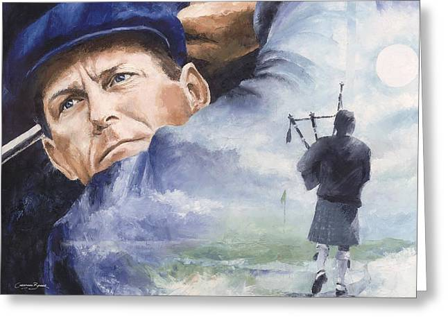 Payne Greeting Cards - Payne Stewart Greeting Card by Christiaan Bekker