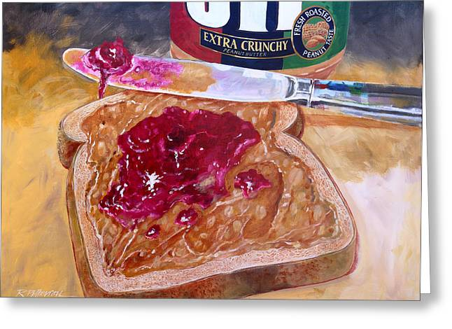 Labelled Greeting Cards - Pbj Greeting Card by Ron Patterson