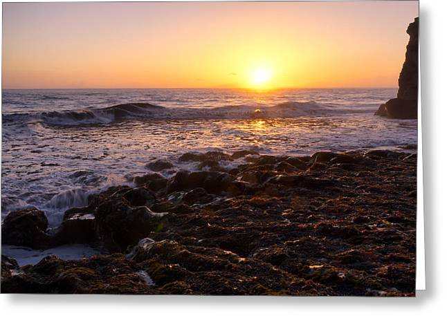 California Greeting Cards - PCH Sunsets Greeting Card by Diana Weir